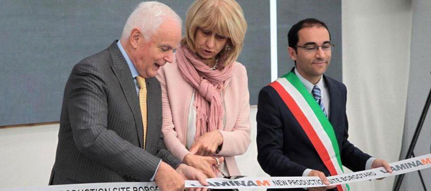 Laminam inaugura il nuovo stabilimento produttivo di Borgotaro