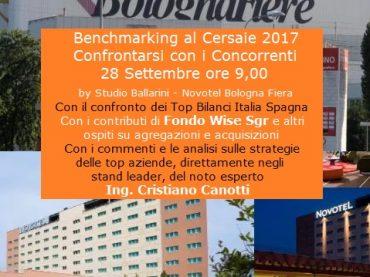 Corso Benchmarking al Cersaie 28 settembre ore 9 Bologna Novotel