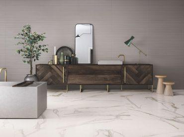 Elements Lux di Ceramiche Keope scelta per l'allestimento di Sambonet ad HOMI