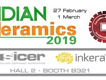 Sicer acquisisce la maggioranza di SOL-INK e partecipa per la prima volta ad Indian Ceramics.