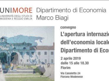 Apertura internazionale dell'economia locale: il contributo del Dipartimento di Economia Marco Biagi