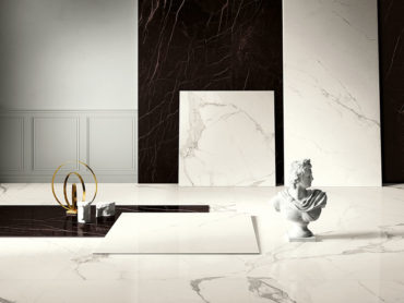 Il lusso del marmo si declina in nuove ed affascinanti versioni delle grandi lastre in Kerlite