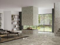 Nuova collezione KAMU di FAP ceramiche: un meraviglioso camouflage effetto marmo emerge dalle superfici lucide in gres porcellanato