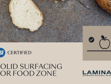 Laminam è la prima a ottenere la certificazione NSF per il contatto con gli alimenti
